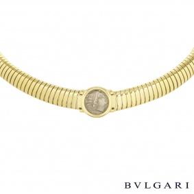 Bvlgari Yellow Gold Caria Rhodos Coin Necklace